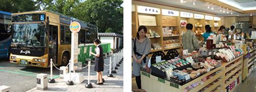徳川園 バス停